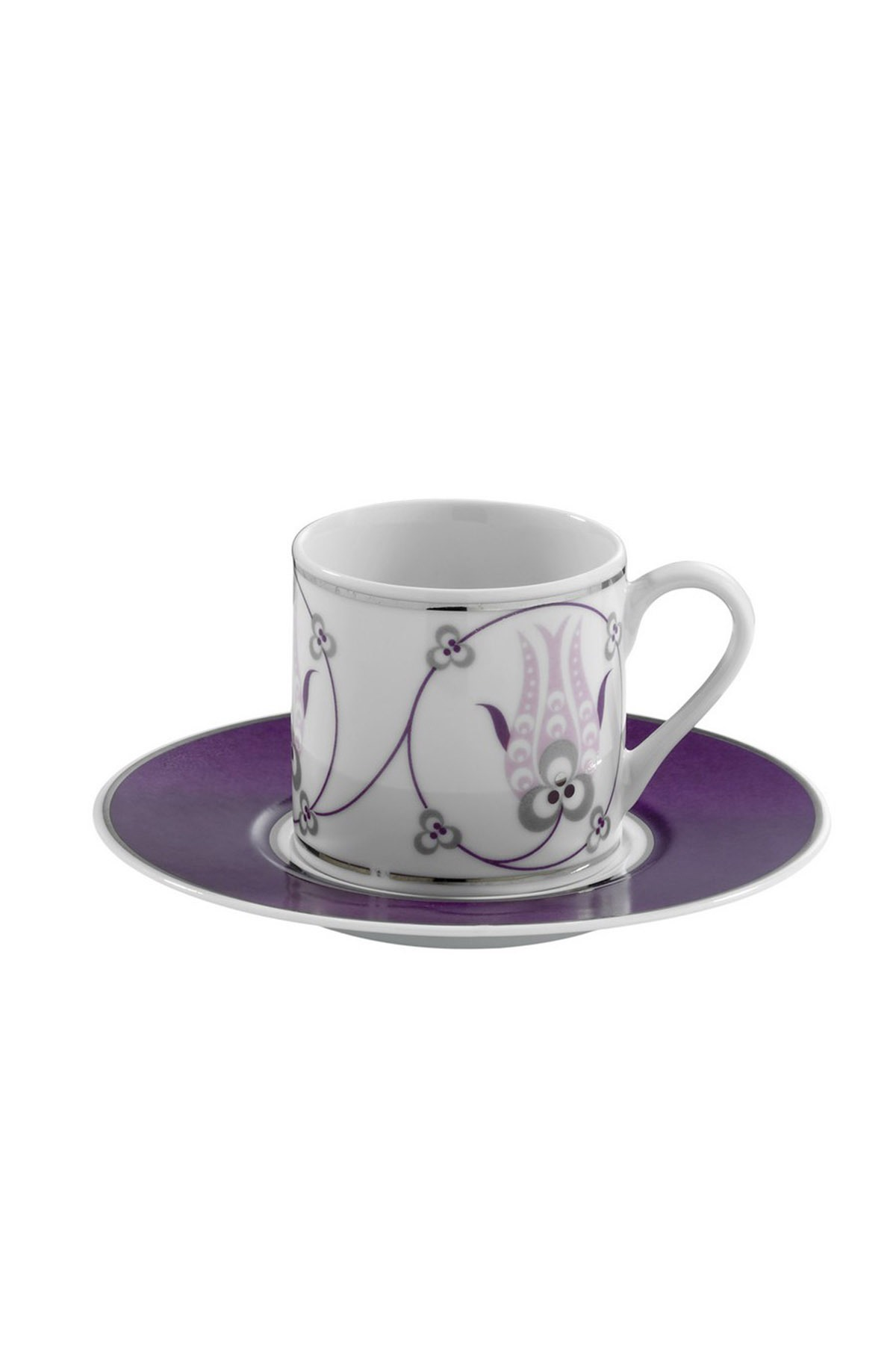 Kütahya Porselen Çintemani 9724 Desen Kahve Fincan Takımı