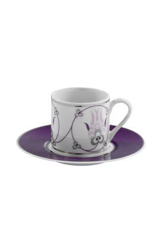Kütahya Porselen - Kütahya Porselen Çintemani 9724 Desen Kahve Fincan Takımı