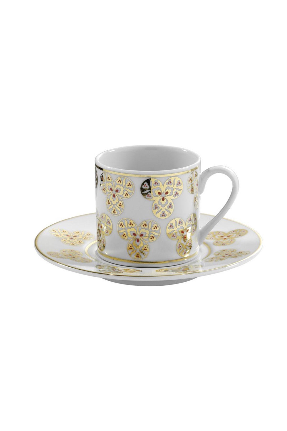 KÜTAHYA PORSELEN - Kütahya Porselen Çintemani 9725 Desen Kahve Fincan Takımı