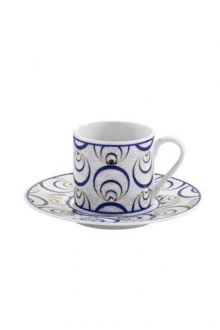 Kütahya Porselen - Kütahya Porselen Çintemani 9726 Desen Kahve Fincan Takımı