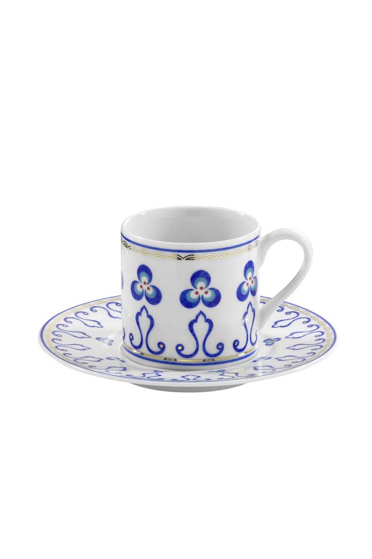KÜTAHYA PORSELEN - Kütahya Porselen Çintemani 9727 Desen Kahve Fincan Takımı