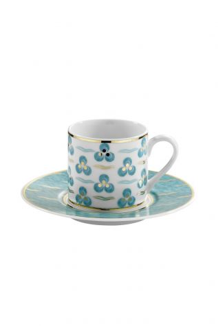 Kütahya Porselen - Kütahya Porselen Çintemani 9728 Desen Kahve Fincan Takımı