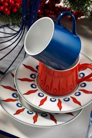 Kütahya Porselen - Kütahya Porselen Çintemani 9730 Desen Kahve Fincan Takımı