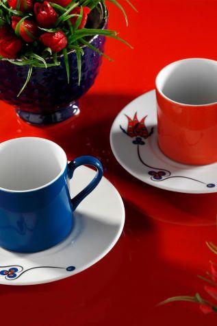 Kütahya Porselen - Kütahya Porselen Çintemani 9731 Desen Kahve Fincan Takımı