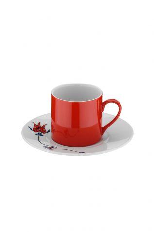 Kütahya Porselen Çintemani 9731 Desen Kahve Fincan Takımı - Thumbnail (2)