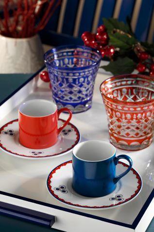 Kütahya Porselen - Kütahya Porselen Çintemani 9733 Desen Kahve Fincan Takımı