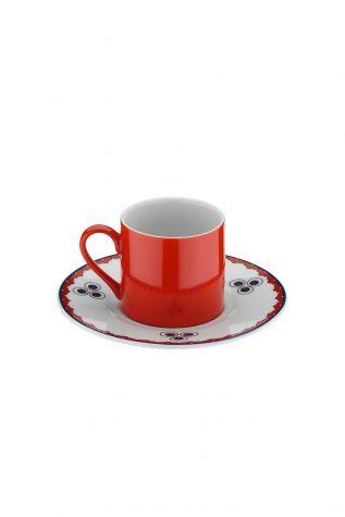 Kütahya Porselen Çintemani 9733 Desen Kahve Fincan Takımı - Thumbnail (2)