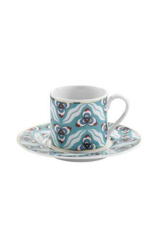Kütahya Porselen - Kütahya Porselen Çintemani 9734 Desen Kahve Fincan Takımı