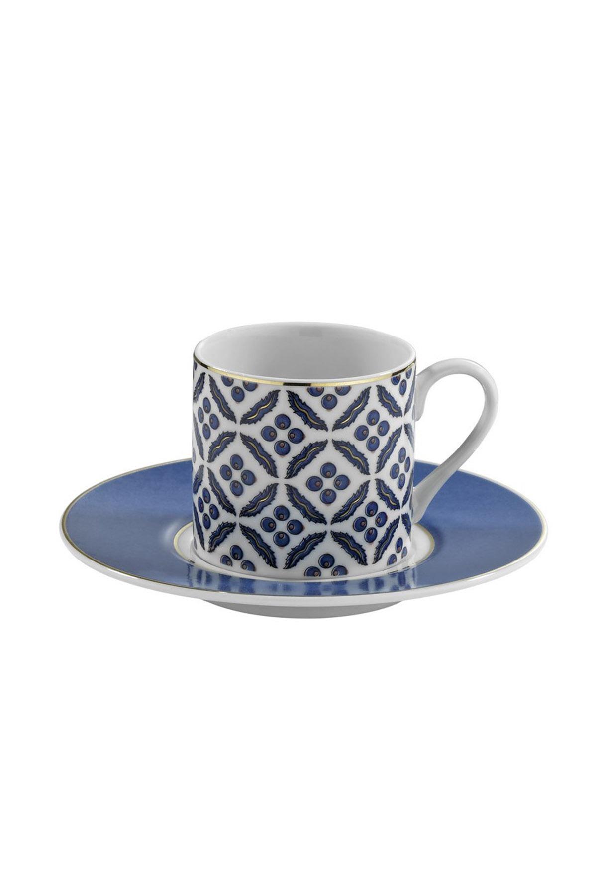 Kütahya Porselen - Kütahya Porselen Çintemani 9737 Desen Kahve Fincan Takımı