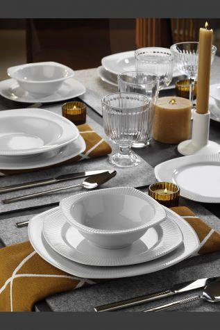 Kütahya Porselen - Kütahya Porselen Çisil 24 Parça Yemek Seti