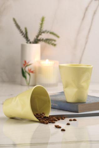 Kütahya Porselen - Kütahya Porselen Crash 2'li Espresso Kahve Seti Sarı