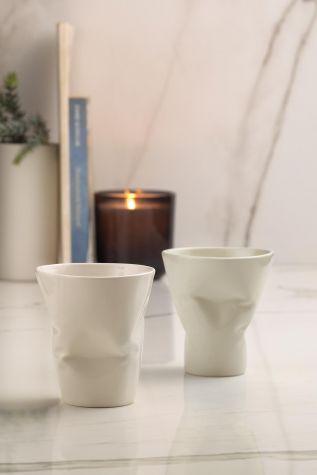 Kütahya Porselen - Kütahya Porselen Crash 2'li Espresso Kh. Seti Krem