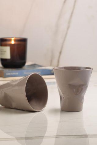 Kütahya Porselen - Kütahya Porselen Crash 2'li Mug Seti Gri