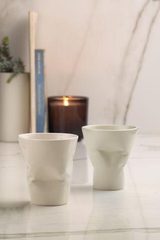 Kütahya Porselen - Kütahya Porselen Crash 2'li Mug Seti Krem