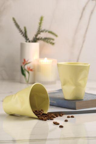 Kütahya Porselen - Kütahya Porselen Crash 2li Mug Seti Sarı