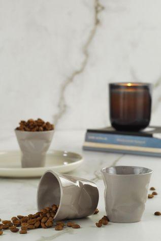 Kütahya Porselen - Kütahya Porselen Crash 3l'ü Kahve Seti Gri