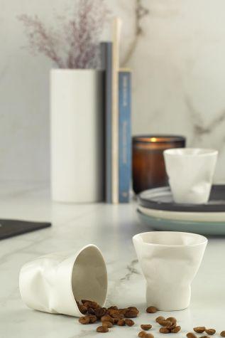 Kütahya Porselen - Kütahya Porselen Crash 3'lü Kahve Seti Krem