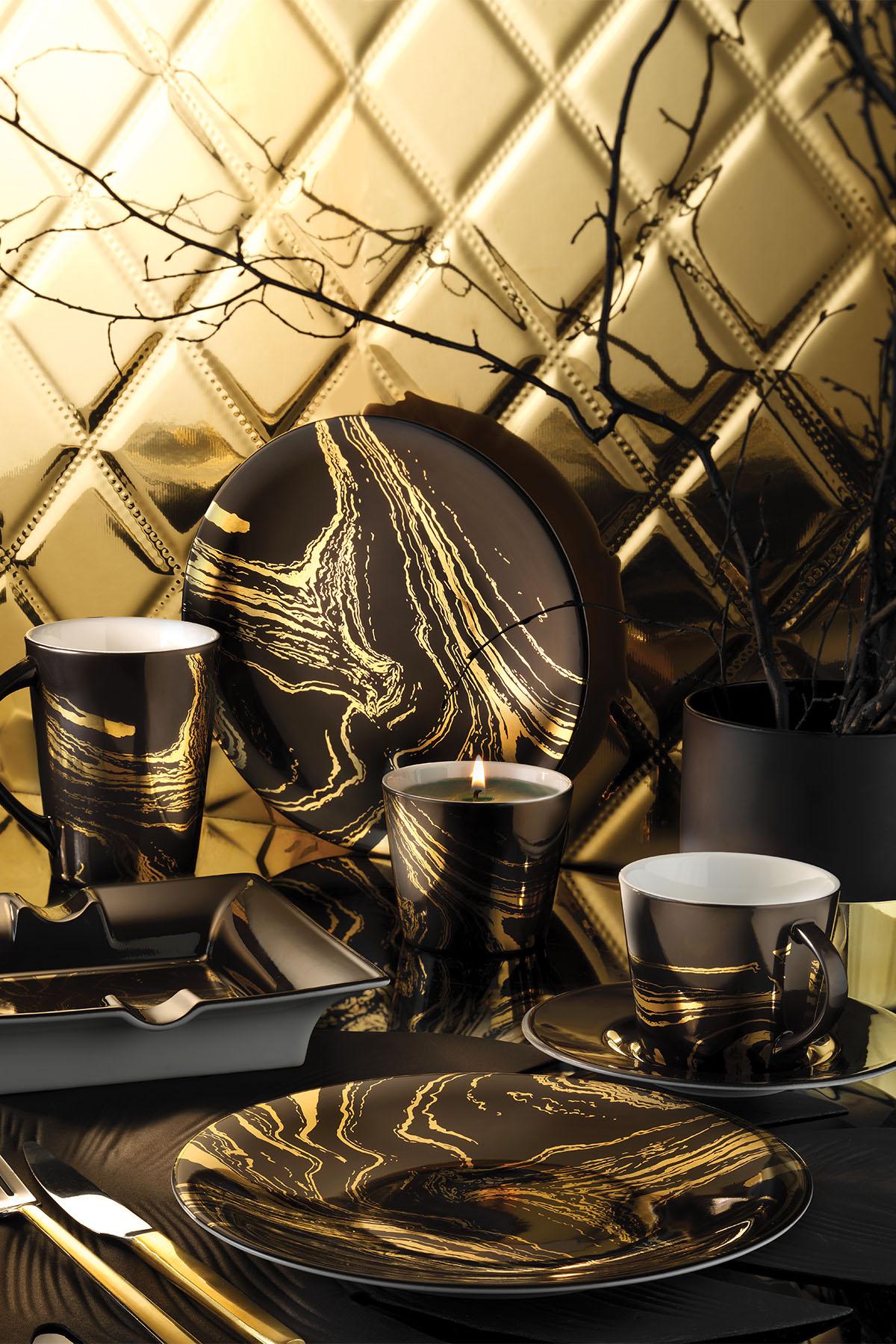 Kütahya Porselen Design Studio 10101 Desen Çay Takımı