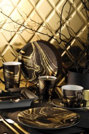Kütahya Porselen Design Studio 10101 Desen Çay Takımı - Thumbnail