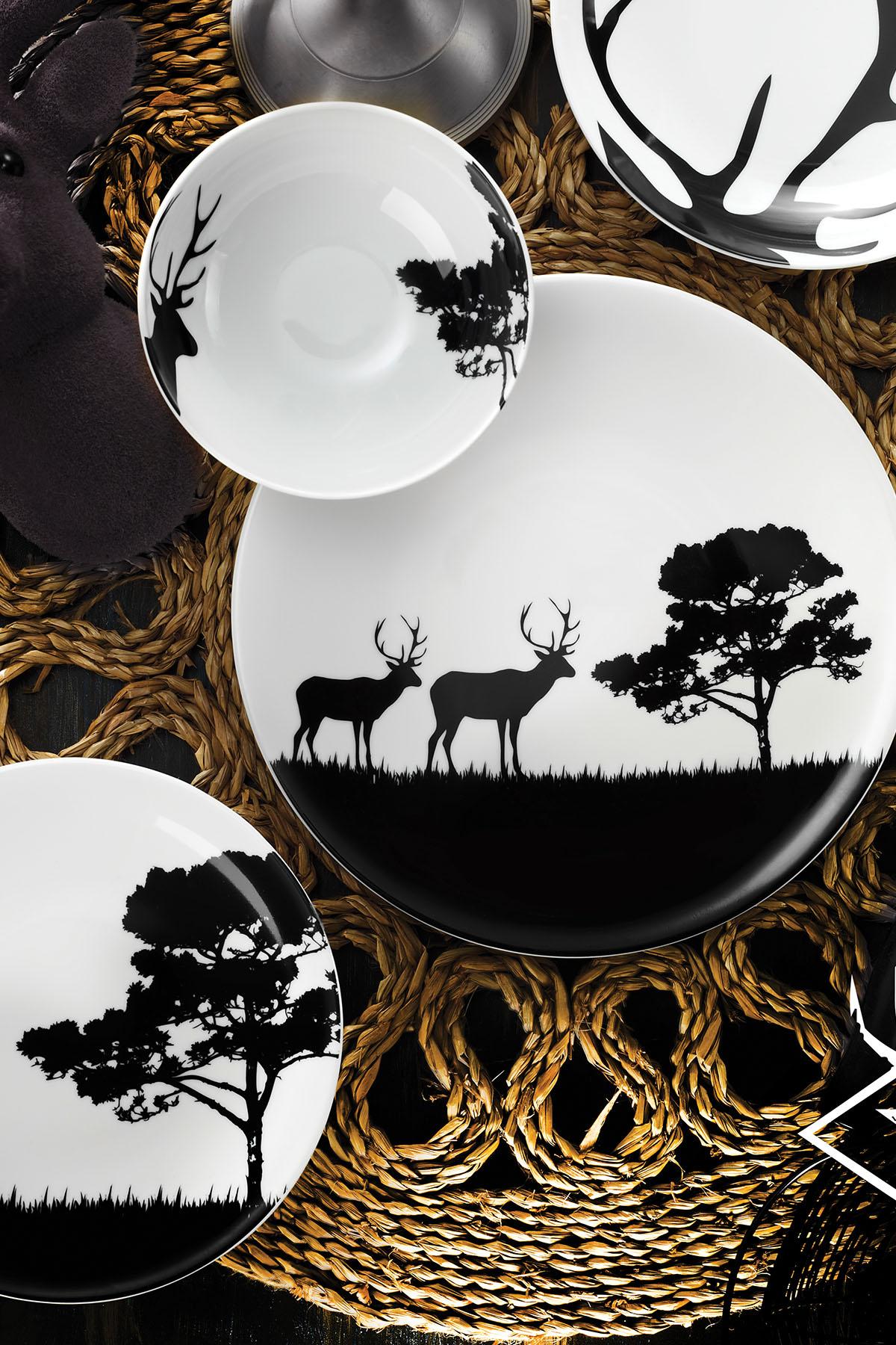 Kütahya Porselen - Kütahya Porselen Doğadakiler Serisi 24 Parça Yemek Seti