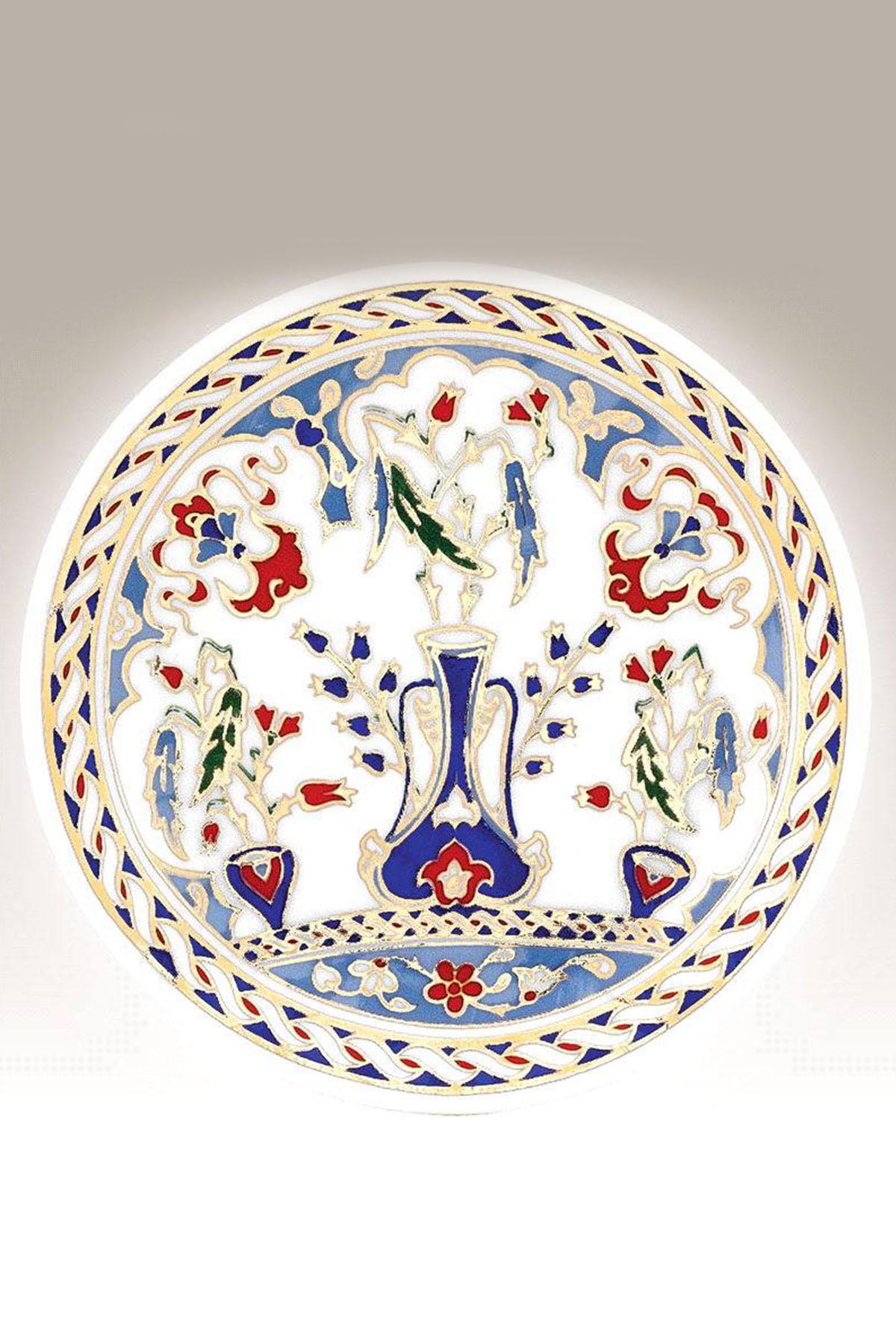 Kütahya Porselen - Duvar Tabağı 10 Cm Dekor No:178