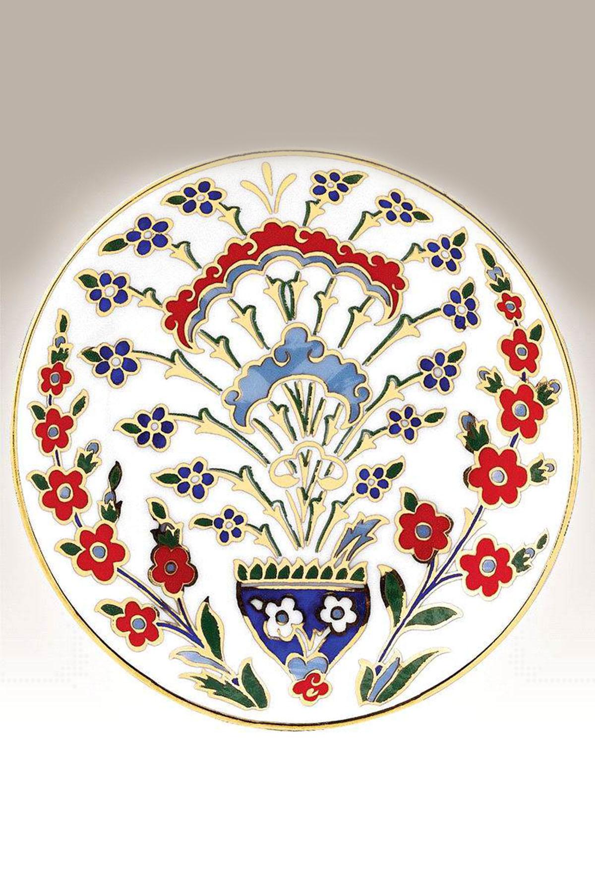 Kütahya Porselen - Duvar Tabağı 13 Cm Dekor No:167
