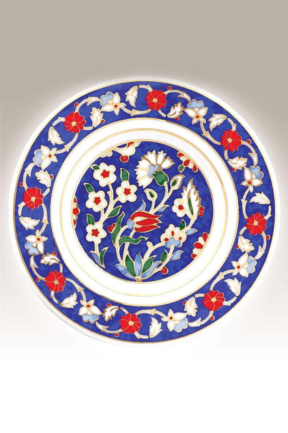 Kütahya Porselen - Duvar Tabağı 17 Cm Dekor No:155