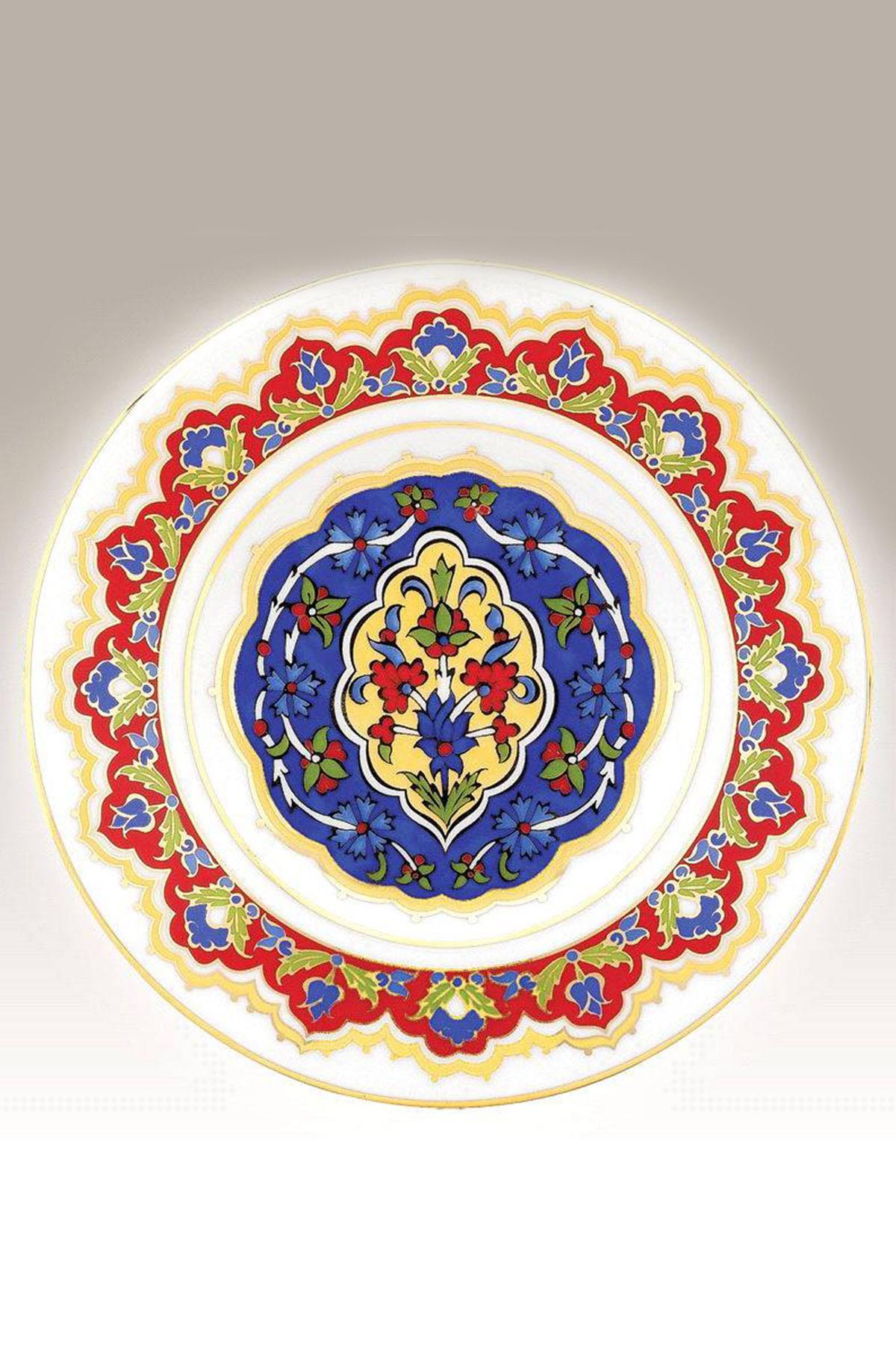 Kütahya Porselen - Duvar Tabağı 17 Cm Dekor No:3886