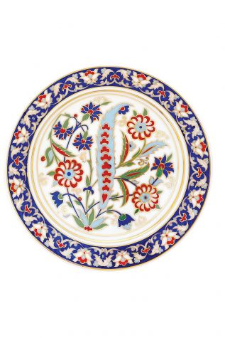 Kütahya Porselen - Kütahya Porselen Lenger 25 cm Duvar Tabağı Dekor No:137