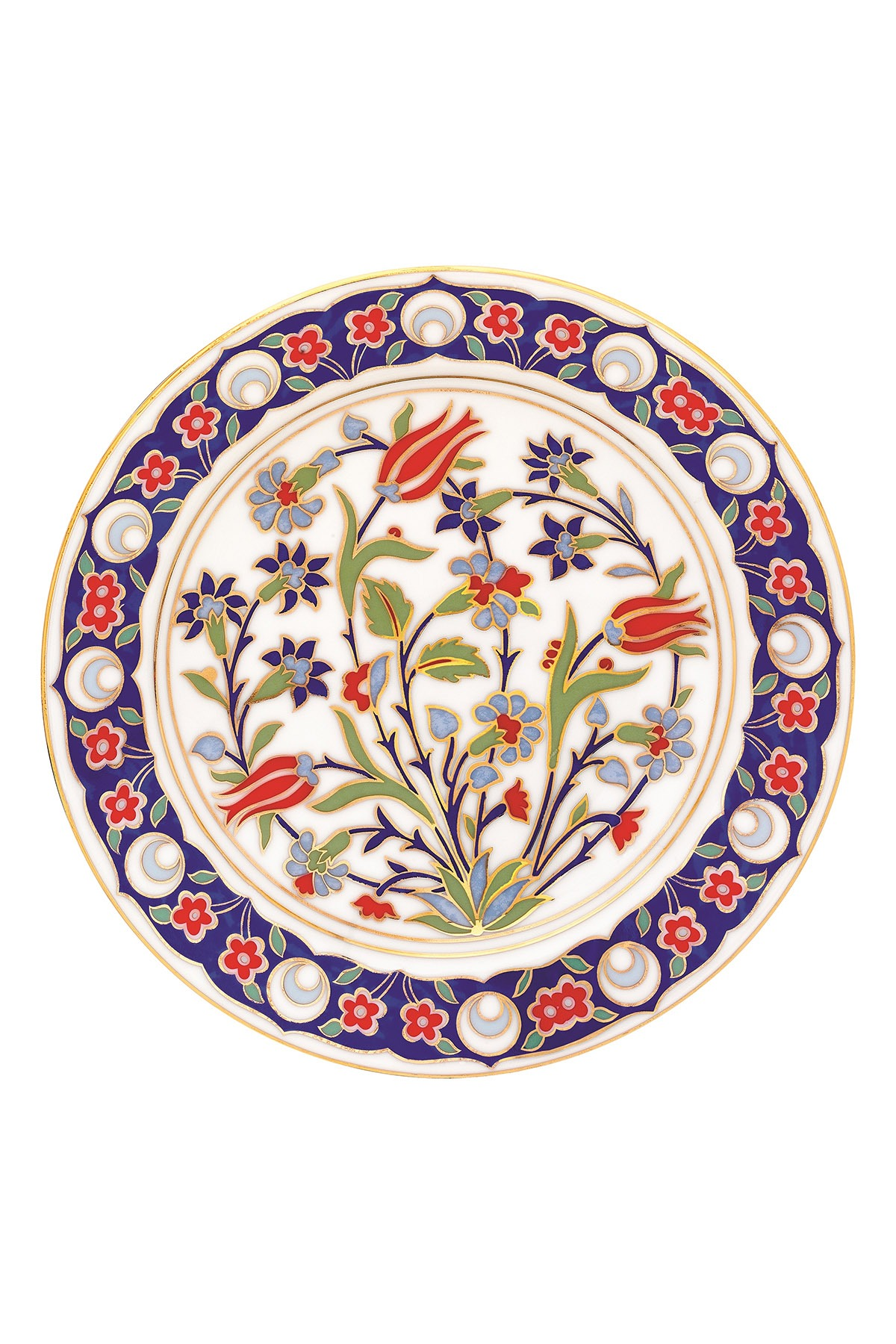 Kütahya Porselen - Kütahya Porselen Lenger 25 Cm Duvar Tabağı Dekor No:136