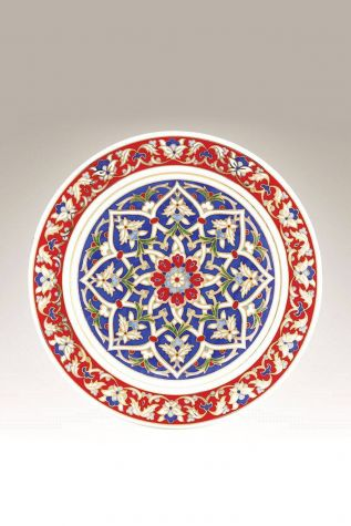 Kütahya Porselen - Kütahya Porselen Lenger 25 cm Duvar Tabağı Dekor No:120