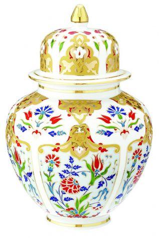 KÜTAHYA PORSELEN - Kütahya Porselen Kapaklı Küp Dekor No:412