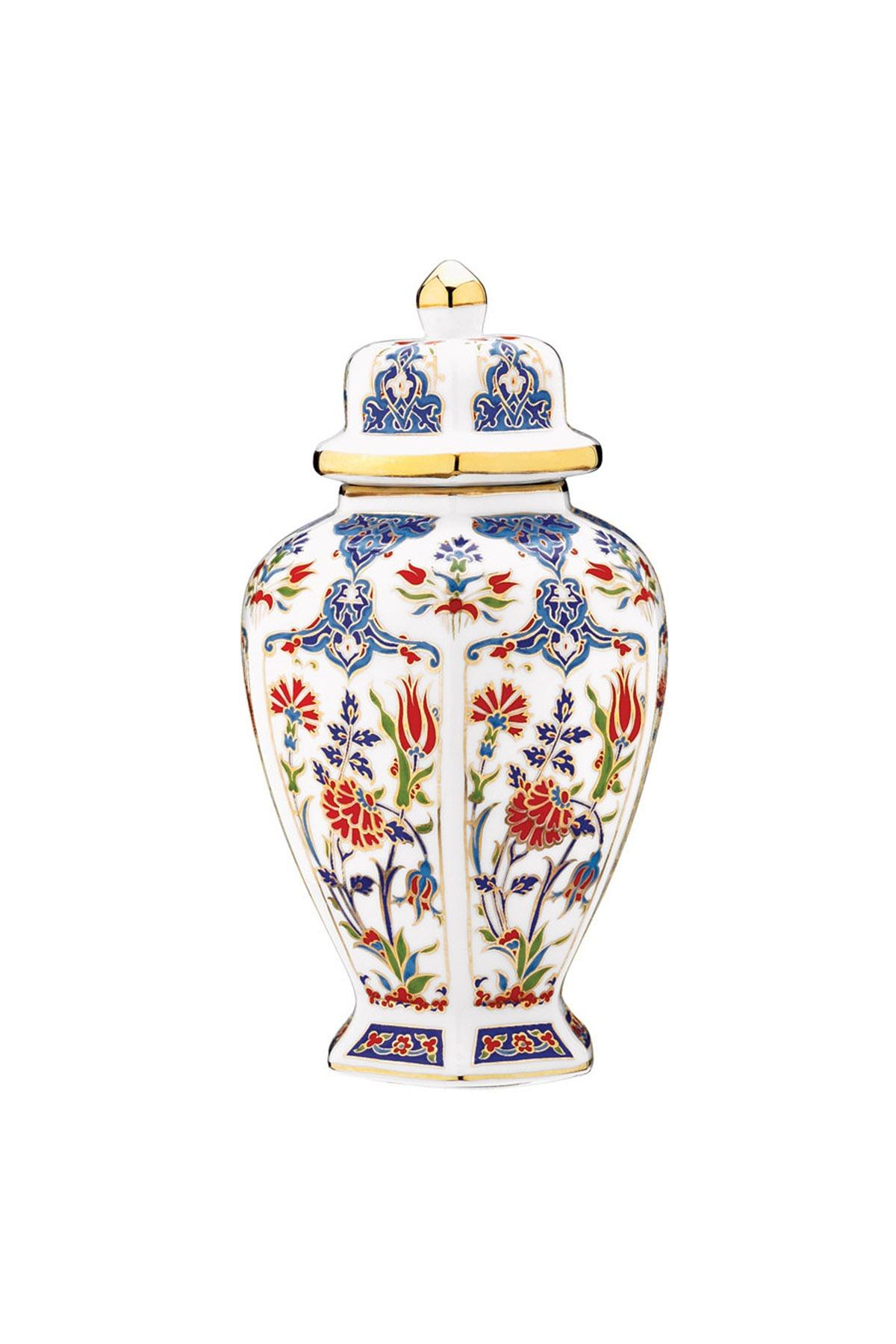 Kütahya Porselen - Kütahya Porselen El Yapımı Kapaklı Küp No 6