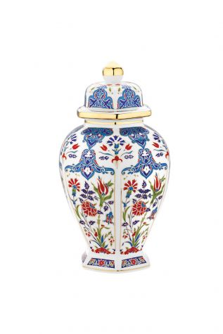 Kütahya Porselen - Kütahya Porselen Kapaklı Küp Dekor No:415