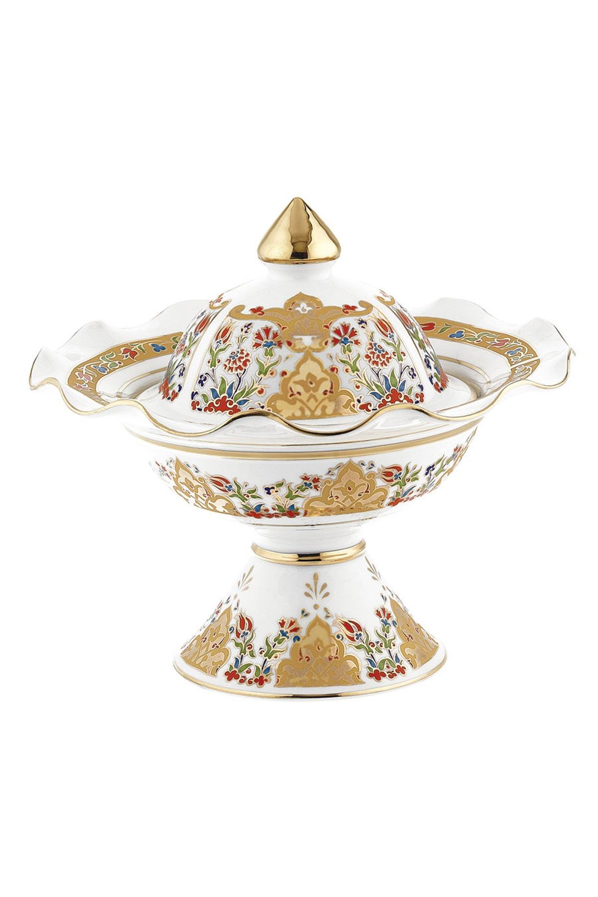 Kütahya Porselen - Hanedan Şekerlik 22 Cm Dekor No:412