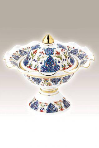 Kütahya Porselen - Hanedan Şekerlik 22 cm Dekor No:415