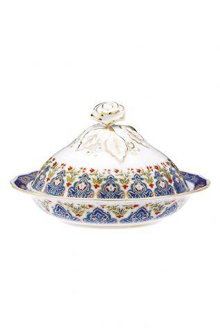 Kütahya Porselen - Kütahya Porselen Sultan Şekerlik 20 cm Dekor No:415