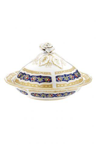 Kütahya Porselen - Kütahya Porselen Sultan Şekerlik 20 cm Dekor No:3880