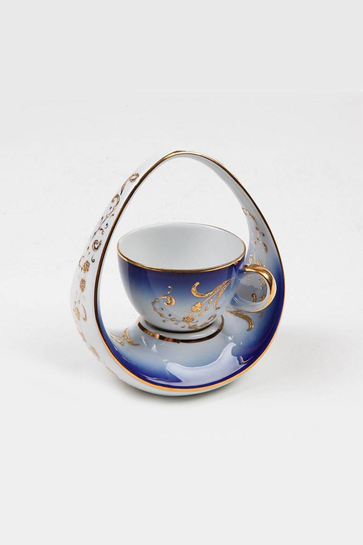 Kütahya Porselen - Kütahya Porselen El Yapimi Sepet Kahve Fin. Lacive