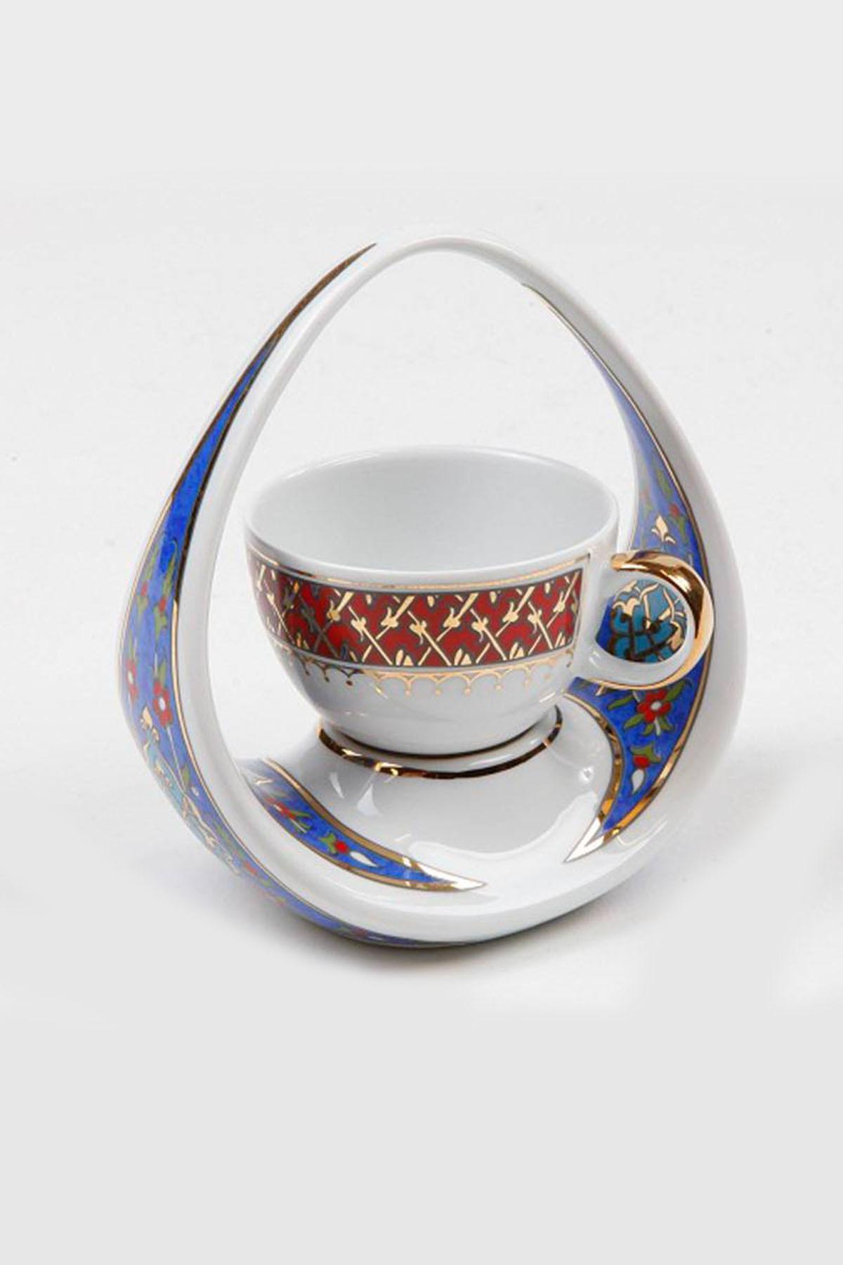 Kütahya Porselen - Kütahya Porselen El Yapımı Sepet Kahve Fincanı
