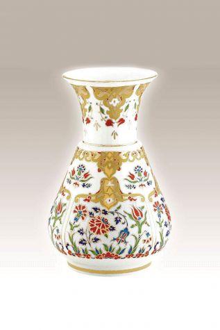 Kütahya Porselen - Kandil Vazo 20 cm Dekor No:412