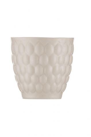 Kütahya Porselen Favo 2'li Mug Seti Krem - Thumbnail (1)