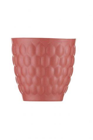 Kütahya Porselen Favo 2'li Mug Seti Pembe - Thumbnail (1)