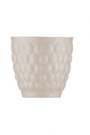 Kütahya Porselen Favo 3'lü Kahve Seti Krem - Thumbnail (1)