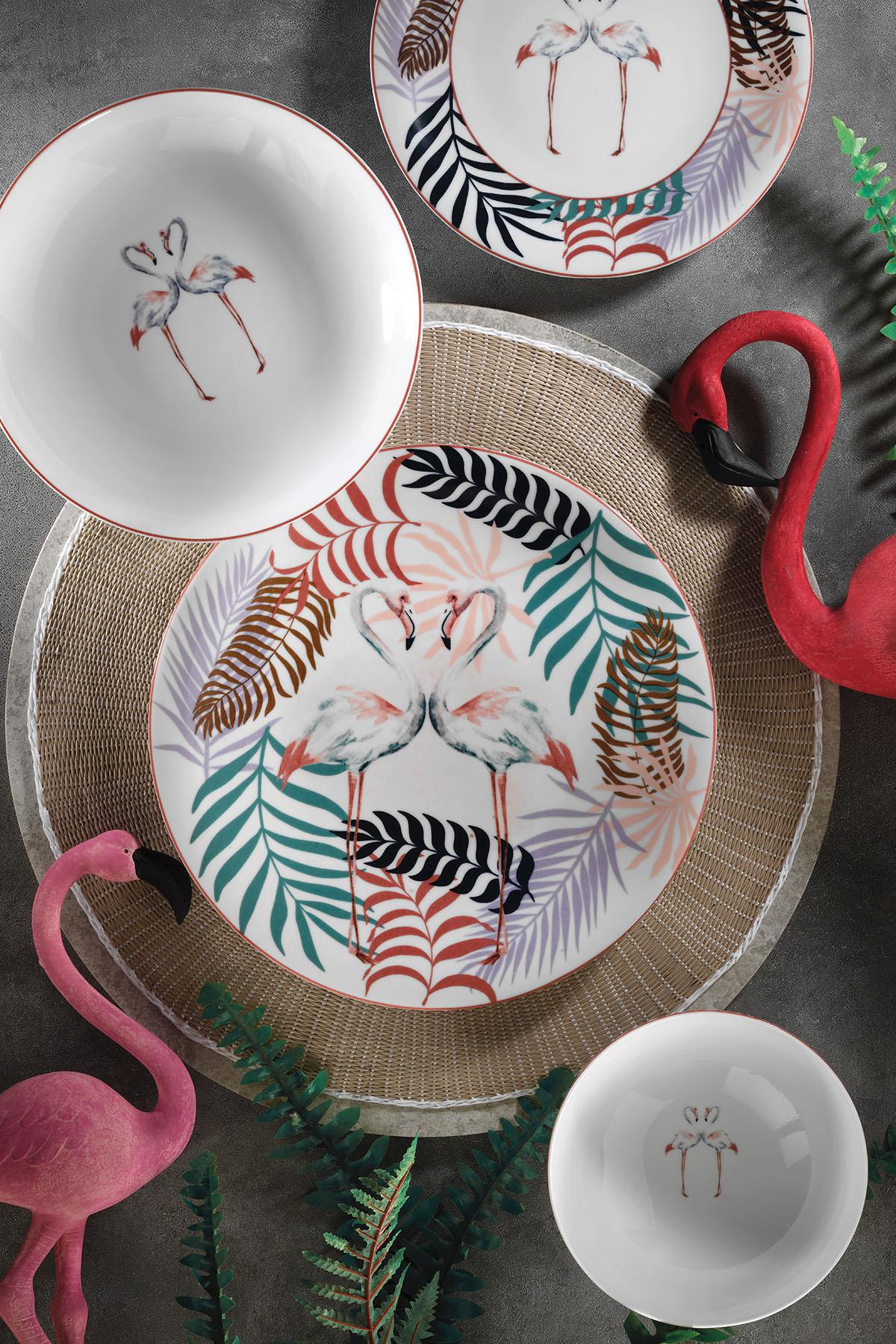 KÜTAHYA PORSELEN - Kütahya Porselen Flamingo 24 Parça Yemek Seti