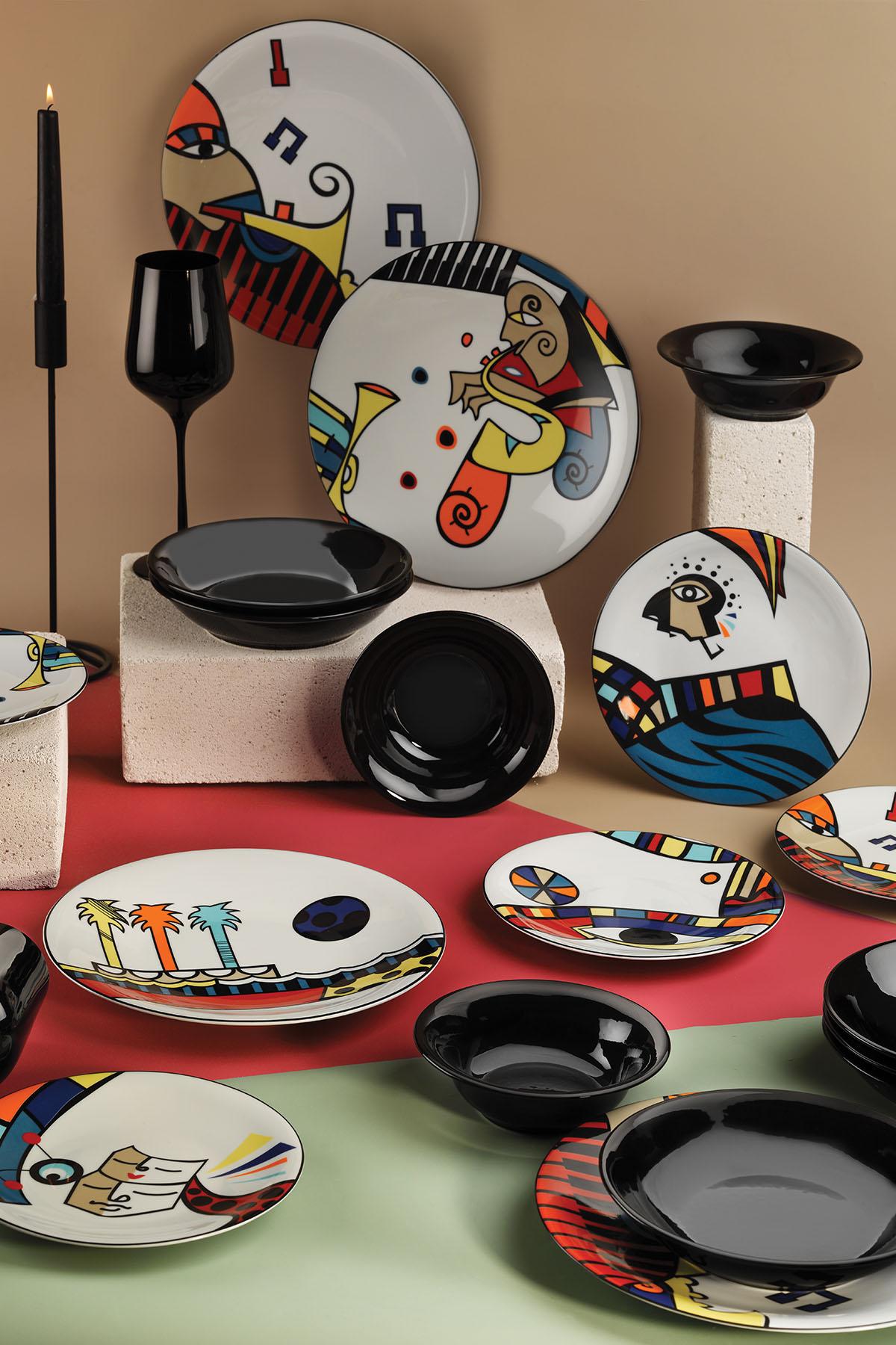 Kütahya Porselen Free Time 24 Parça Yemek Seti