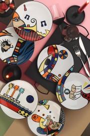 Kütahya Porselen Free Time 6'lı 27 cm Servis Tabağı - Thumbnail