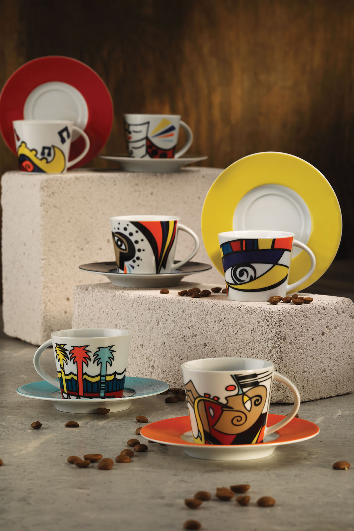 Kütahya Porselen - Kütahya Porselen Free Time Çay Takımı