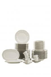Kütahya Porselen Fulya 62 Parça Krem Yemek Takımı - Thumbnail