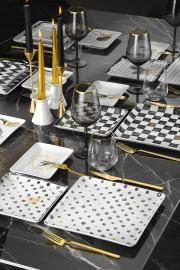 Kütahya Porselen Golden Lief İkram Seti - Thumbnail